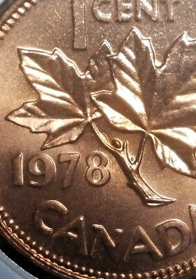 Canada 1978 *Cocoon Variety* Small Cent UNC Gem BU!!