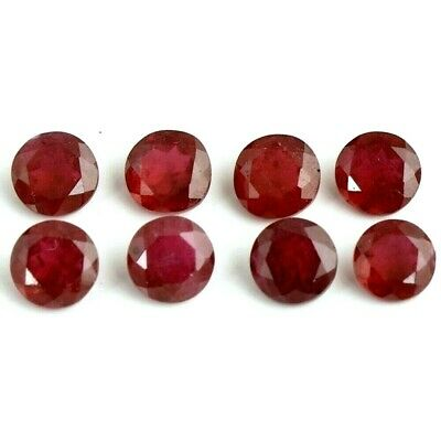 Wholesale Lot of 2mm to 8mm Round Faceted Natural Ruby Loose Calibrated Gemstone