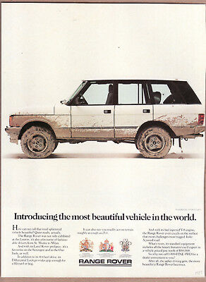 "1987 Range Rover Ad ""Introducing the most..."" Print Ad"
