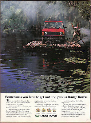 "1992 Range Rover Ad ""Sometimes you have to.."" Print Ad"