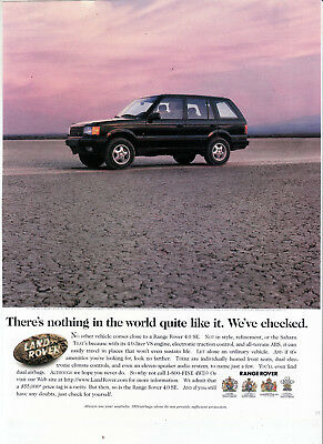 """1996 Range Rover Ad """"There's nothing in the world..."""" Print Ad"""