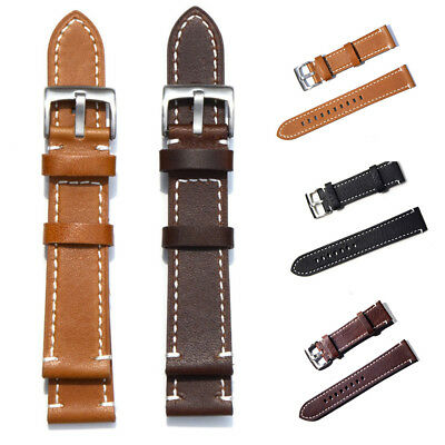 Genuine Leather Watch Wrist Band Strap Replacement 18 19 20 21 22 23 24 mm