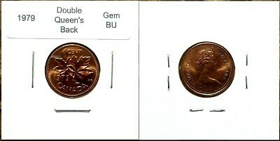 Canada 1979 Small Cent *Double Queen's Back* UNC Gem BU Red!!
