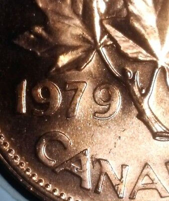 Canada 1979 Small Cent *Double 79* UNC Gem BU Red!!