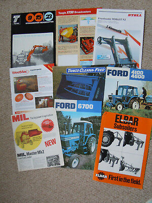 @Vintage Quantity of Agricultural Brochures-Ford@