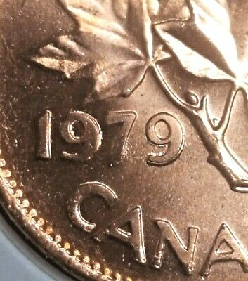 Canada 1979 Small Cent *Double 1979* UNC Gem BU Red!!