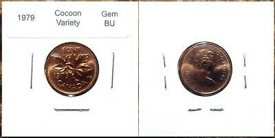 Canada 1979 Small Cent *Cocoon Variety* UNC Gem BU Red!!
