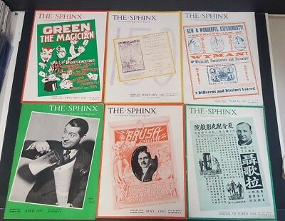 1945 Lot (6) The Sphinx Magicians Magazine Excellent Cond!!!