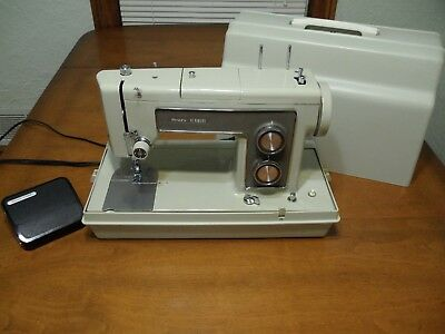 VTG SEARS KENMORE Sewing Machine 40 Heavy Duty W Case Tested Model Adorable Kenmore Sewing Machine Model 158