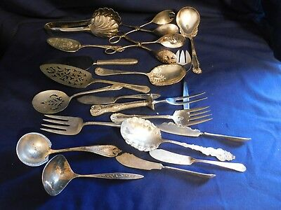 Lot of Silver Plated Serving Utensils 20pcs - Catering - Fine Dining - Holiday B