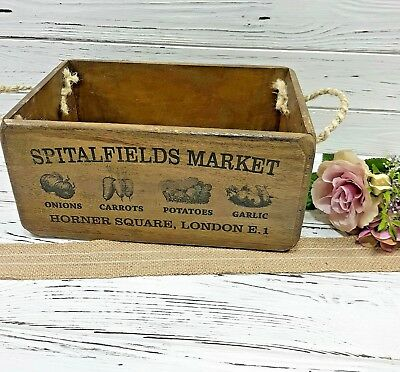 Antique Vintage Trinket Box Storage Brick Mould Crate Tool Box Herbs plants