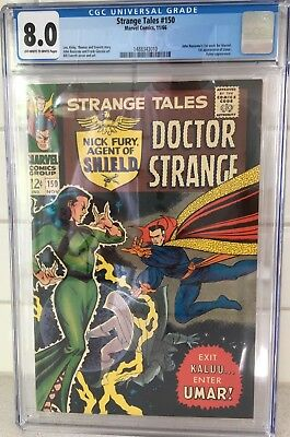 STRANGE TALES #150 ~ CGC 8.0, OW/W pages ~ John Buscemas 1st Marvel work