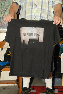 The Postal Service Band Tour T Shirt 00's Subpop Give Up Lp Cover Xl