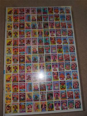 1986 Topps Garbage Pail Kids Series 4 Uncut Sheet Excellent Condition
