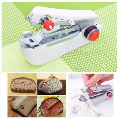 Mini Hand Held Cordless Sewing Machine Stitch Clothes Fabric For Traveling C