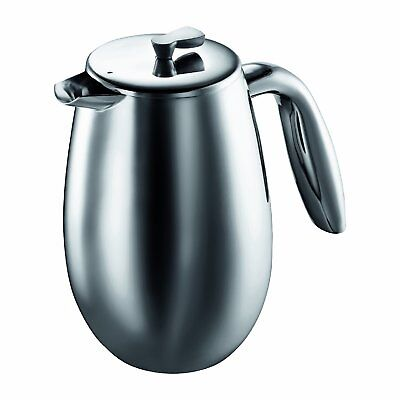 Bodum Columbia Double Wall Coffee Maker, Stainless Steel - 3-Cup 0.35 L , Matt