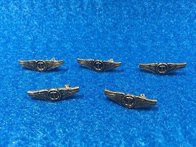 Lot of 5 1970's Vintage Navy Naval Aviation Flight Observer Wings Pins