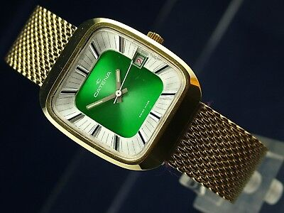 Vintage Retro Catena Swiss Gents Mechanical Wind Up Watch New Old Stock 1970s