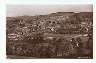 Selkirk General View From NW Factories Chimneys Real Photograph c1920's Edwards