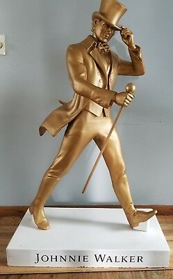 "(L@@K) Johnnie walker whisky giant 50"" gold bar statue advertising sign rare"