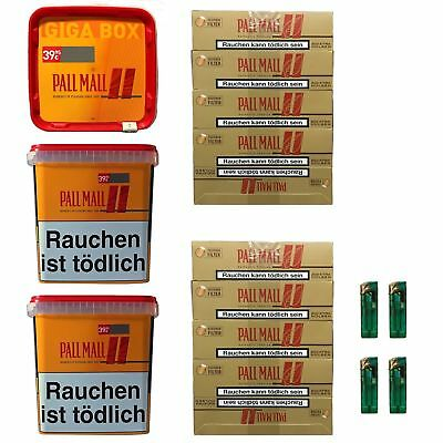 3 Pall Mall Allround Giga Box 290g Tabak/Volumentabak, Authentic Hülsen, Feuerz.
