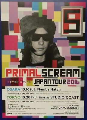 Primal Scream / Kula Shaker Japan Tour 16 Original Japanese Chirashi Mini Poster