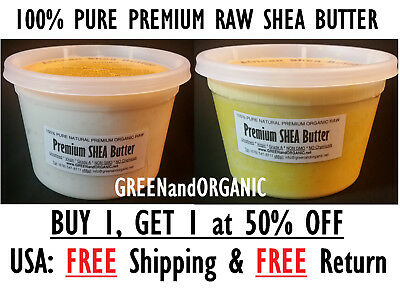 Raw African Shea Butter 16oz / 1lb. 100% Pure Unrefined Organic From Ghana Bulk