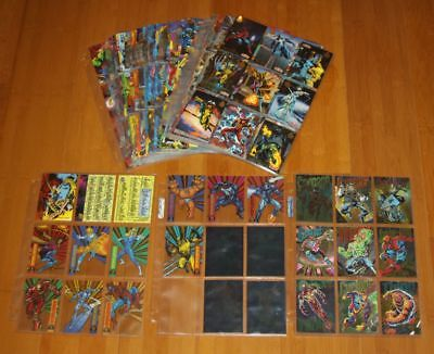 1994 FLEER Marvel Universe Master Set w Chase Cards Hologram Power Blast Cell