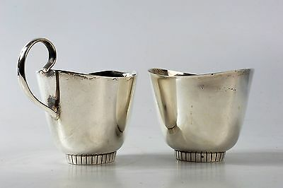 Towle Sterling Silver .925 Cream and Sugar Set Modern Pattern 550 7.6oz Total