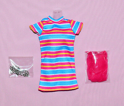 """Fashion Royalty 12"""" Poppy Parker Glad All Over Striped Outfit With Chain Belt Ti"""