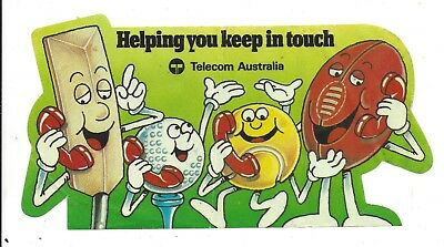 Telecom Helping You Keep In Touch Sticker 1980's  Vintage Telecommunications