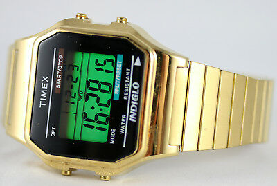 dff075145 TIMEX® MEN'S CLASSIC Digital Gold Tone Expansion Band T78677 Watch ...