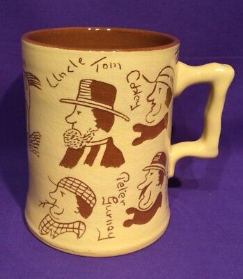 Torquay Devon Ware Pottery Eight Characters & Horse Widecombe Fair Tankard