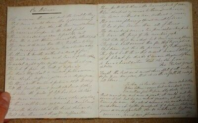 1849 Handwritten Diary Of Rosalind Tweed, Pages Full & Diary Complete, Antique