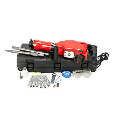 2200W Electric Demolition Jack Hammer 1900RPM Concrete Breaker Chisels w/Case