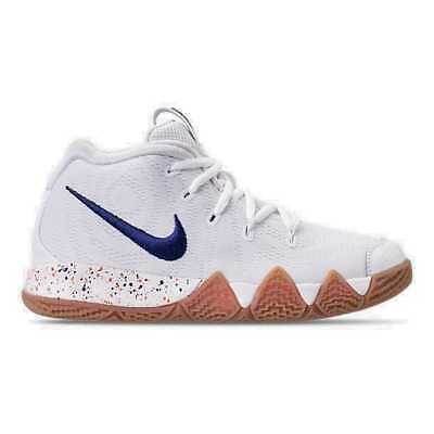 20720c712dd0 Boys  Preschool Nike Kyrie 4 Basketball Shoes White Deep Royal AA2898 100