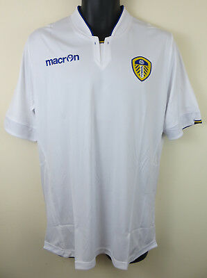 BNWT Macron Leeds United Football Shirt Home 2014-15 Soccer Jersey Mens Large L