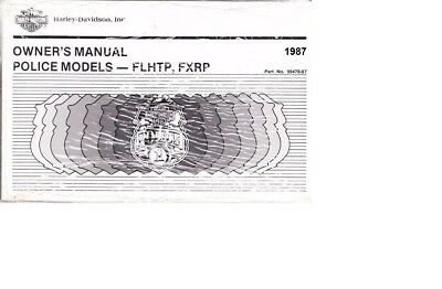 1990 Harley Touring POLICE FLHT FXRP Owner/'s Owners Owner Manual Book 99478-90