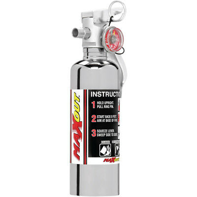 H3R Performance MX100C Fire Extinguisher MaxOut Dry Chemical 1 LB Chrome