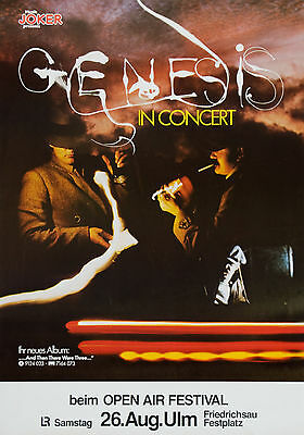 "Genesis 1978 German 16"" x 12"" Photo Repro Concert Poster"