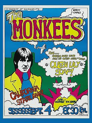 """The Monkees California State Fair 16"""" x 12"""" Photo Repro Concert Poster"""