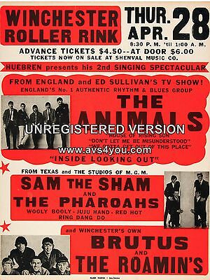 "The Animals Winchester 16"" x 12"" Photo Repro Concert Poster"