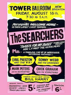 "The Searchers Blackpool 16"" x 12"" Photo Repro Concert Poster"