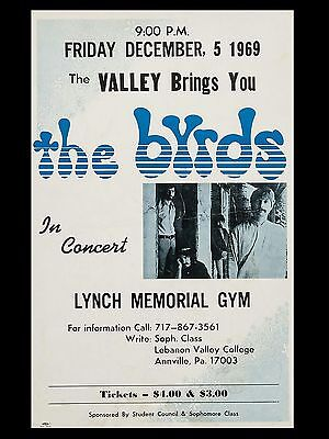 "The Byrds Anneville 16"" x 12"" Photo Repro Concert Poster"