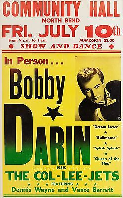 "Bobby Darin North end 16"" x 12"" Photo Repro Concert Poster"