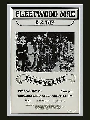 "Fleetwood Mac Bakersfield 16"" x 12"" Photo Repro Concert Poster"