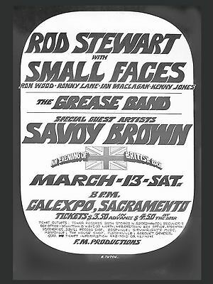 "Rod Stewart / Small Faces 16"" x 12"" Photo Repro Promo Poster"