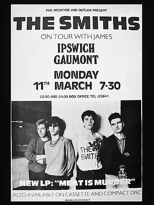 "The Smiths Ipswich Gaumont 16"" x 12"" Photo Repro Concert Poster"