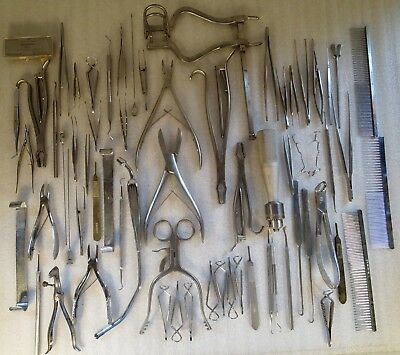 Lot of 65 Veterinarian Medical Tools~Miltex,Germany,Central,Kirschner...