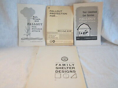 4 Cold War Fallout Shelter Guides Crops, LiveStock, Homes w/Basements & Design